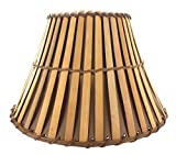 Upgradelights All Natural Bamboo 12 Inch Washer Fitted Lampshade 6x12x8