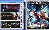 Amazing Heroes Super Film Collection Movie Pack Spider-Man 2 in 3D + Daredevil / Elektra /League Extraordinary Gentleman Blu Ray Series