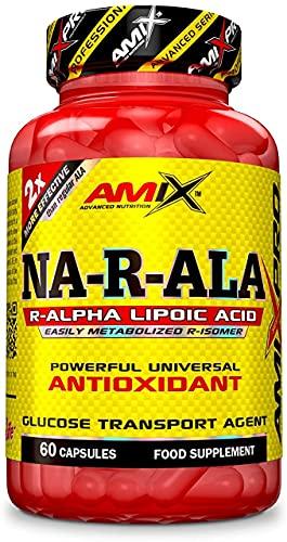 AMIX PRO - NA-R-ALA, Suplemento Alimenticio a Base de Ácido R-Alfa Lipoico, Potente Antioxidante, Combate Radicales Libres, Para Reforzar el Sistema Inmunológico, Soluble en Grasa y Aceite