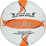 Molten Bv1500-Or, Pallone Da Beach Volley, Colore: Bianco/Arancione/Argento...