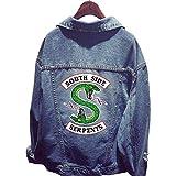 Riverdale Serpent Veste en Jean Femme South Side Serpents Chic Pas Cher Ado Blouson Manteaux Sweat-Shirt (2#)