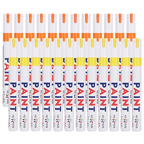 YUANJS Paint Markers,24Pcs Paint Markers Set Oil‑Based Waterproof Marking Tire Check‑in Repair Pen Painting Tools