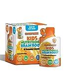 Kids Nutritional Brain Supplement - Boost Child Memory, Focus, Calmness - Support Brain, Immune, Vision, Heart Health - Omega Fish Oil DHA, Vitamin C, Turmeric, Resveratrol - Liquid Pouch (3x20 Pack)