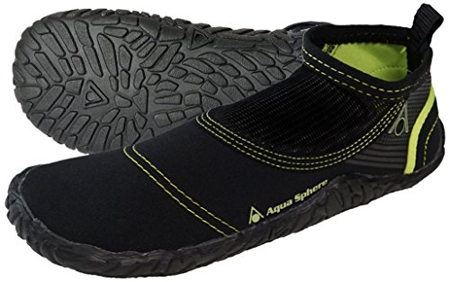 Aqua Sphere Beachwalker 2.0 Badeschuhe/Strandschuhe, schwarz / grün, 42/43