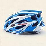 Equipos de equitación cascos un conjunto de cascos de casco de bicicleta de montaña casco hombres y mujeres cascos de bicicleta de montaña ( Color : Azul )