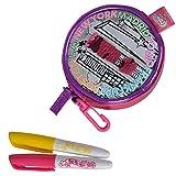 #1018 Color Me Mine Geldbeutel zum Bemalen mit Wende-Pailletten inklusive Stifte • Wallet Tasch Portemoinnaie Geldbörse Stift -