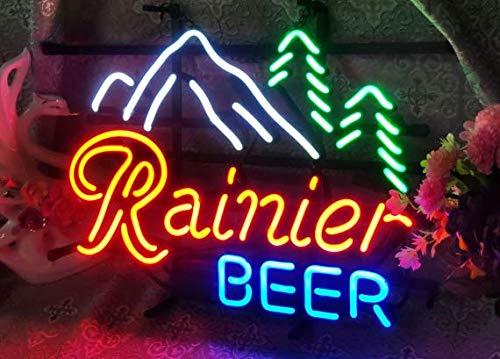"XPGOODUSA- Rainier Beer Neon Sign 17""×13"" for Home Bedroom Garage Decor Wall Light, Striking Neon Sign for Bar Pub Hotel Man Cave Recreational Game Room"