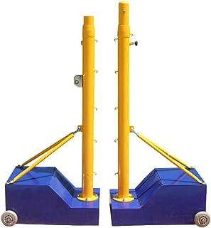 YILANJUN badmintonstolpe, volleybollpost, badminton nätstativ, badminton nätställ, utomhus, bärbar, med hjul, badminton nä...