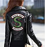 N /A Chaqueta de Mujer Riverdale Southside, Chaqueta de Moto de Cuero PU, Chaqueta American TV Viper, Chaqueta Delgada de Manga Larga, Adecuada para Parejas y niñas,Negro,S