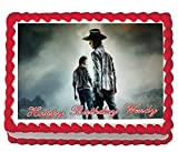 Walking Dead Rick Carl Birthday Party Icing Edible Cake Topper Image sheet