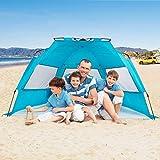 Alvantor Beach Tent Super Bluecoast Beach Umbrella Outdoor Sun Shelter Cabana Pop-Up UPF 50+ Sun shade Portable Camping Fishing Hiking Canopy Light Weight Windproof Stable (HUB PATENT PENDING) 7010V