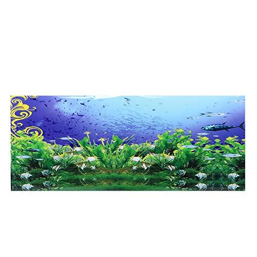 Aquarium Hintergrund Poster Dekorative Malerei PVC Aufkleber Unterwasser Fischbestände Landschaft Bild Wallpaper für Aquarium(61 * 41cm)