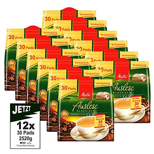 Melitta Pads Auslese klassisch 12x 30 Kaffeepads á 210g (2520g) Vorratspackung