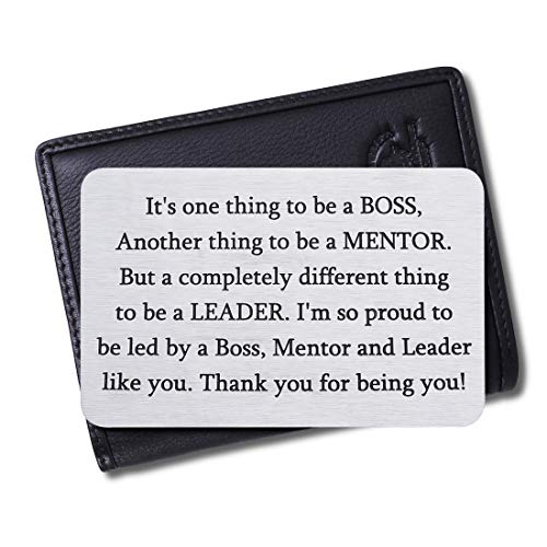 Boss Christmas Appreciation Gifts Wallet Card for Mentor Leader Thank You Note Leaving Going Away Gifts Supervisor Retirement Boss Birthday Gifts Coworker Men Women Goodbye Farewell Presents