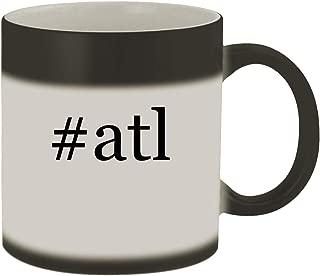#atl - Ceramic Hashtag Matte Black Color Changing Mug, Matte Black