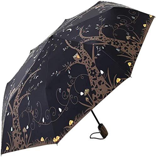 ZHANGYY Faltschirm Kompakter Reiseschirm Winddicht Automatisch Unzerstörbar Wasserdicht Verstärkter Rahmen Öffnet und schließt den Regenschirm automatisch