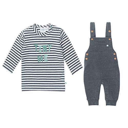 Feetje Baby-Jungen Zweiteiliger Sweat-Anzug Latzhose und Langarmshirt, Anthracite Melange, 74