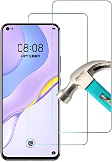 AFGLOOY 2 Pack, Compatible with Huawei Nova 7 5G Screen Protector, Tempered Glass for Huawei Nova 7, 9H Scratch Resistant,...