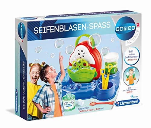 Clementoni 59167 Galileo Science – Seifenblasen-Spaß, Experimentierkasten für kleine Wissenschaftler, Spielzeug für Kinder ab 5 Jahren, spannende Experimente fürs Kinderzimmer