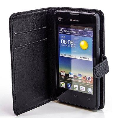 numerva Bookstyle Handytasche kompatibel mit Huawei Ascend Y300 Schutzhülle PU Ledertasche für Huawei Ascend Y300 Hülle mit Kartenfach Schwarz - 4