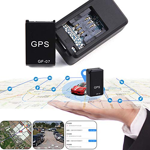 Haodene Mini GPS Tracker, GF07 Traceur Véhicule en Temps Réel Localisateur GSM GPRS Traceur Antivol pour Voiture Moto Vélo, Enfants, Personnes Âgées, Animaux Domestiques, Etc