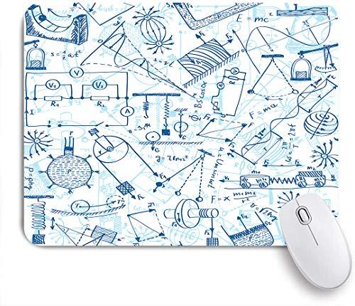 Marutuki Gaming Mouse Pad Rutschfeste Gummibasis,Physicsd Zeichnen einer Sammlung von Formeln im Zusammenhang mit dem Field Doodle Art Print Image,für Computer Laptop Office Desk,240 x 200mm