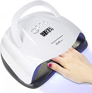 UV LED Nail Lamp Nail Dryer, 42 pcs UV Gel Light Beads for Gel Nail Polish Professional Salon with 4 Timer Setting/Sensor/Lifting Handle Curing Light Upgraded