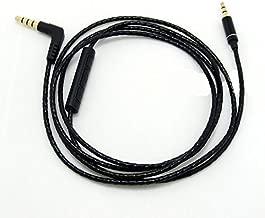 Gotor Replacement Audio Extension Cable Cord for AKG Y40 Y45BT Y55 Y50BT Y50 Headphones Black Colour