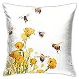 Osborne Bee con Buttercups Fundas de almohada de 45,7 x 45,7 cm,...