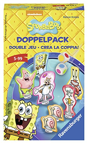 Ravensburger Spiele 23419 - Spongebob Doppelpack Farbwürfelspiel