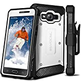 Galaxy On5 Case, Evocel [Explorer Series] Premium Full Body Case with Rugged Belt Clip Holster for Samsung Galaxy On5 (Model No G550), White (EVO-SAMON5-ZZ18)