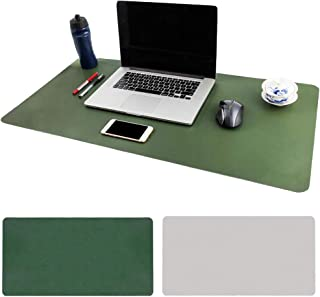 BonShine Large Desk Pad, Non Slip PU Leather Desk Mouse Pad Waterproof Desk Pad Protector, Dual Side Use Desk Writing Mat ...