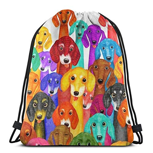 Bolsas con cordón para perros coloridos unisex ligeras para guardar la cadena escolar