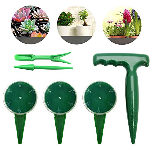 Review Of Rocutus 6 Pack Sowing Seeds Planter,Adjustable Hand Held Garden Flower Grass Plant Seeder ...