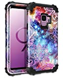 Casetego Compatible Galaxy S9 Case,Floral Three Layer Heavy Duty...