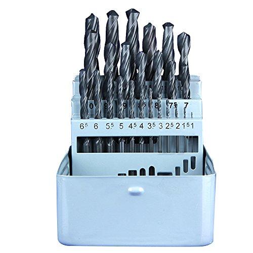 SHINA Nouveau gros 25pcs Top qualité Haute Vitesse Steel 6542 HSS Mèche 1mm-13mm pour Dremel handtool Fer Plastique Cuivre Aluminium Bois