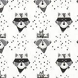 Fabulous Fabrics Cretonnne Waschbär Banditen – weiß —