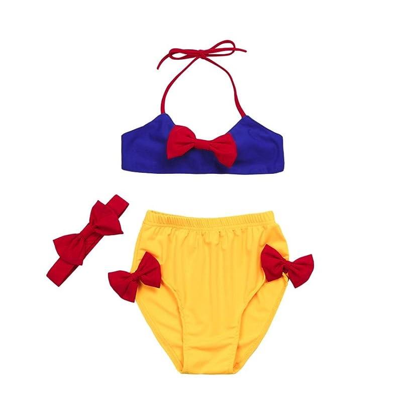 UMFun? Baby Swimwear, for 2~5T Toddler Girls 3Pcs Bikini Set Swimsuit Swimwear with Headband Snow White Outfits