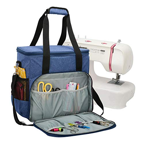 Buy Bargain SMASAMDE Sewing Machine Case, Sewing Machine Carrying Case with Multiple Storage Pockets...