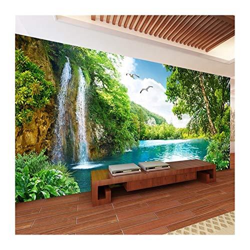 WHYBH HYCSP Tapete Tapete Wohnkultur Green Mountain Wasserfall-Natur-Landschaft Foto-Wand-Papier for Wohnzimmer Schlafzimmer (Size : A)