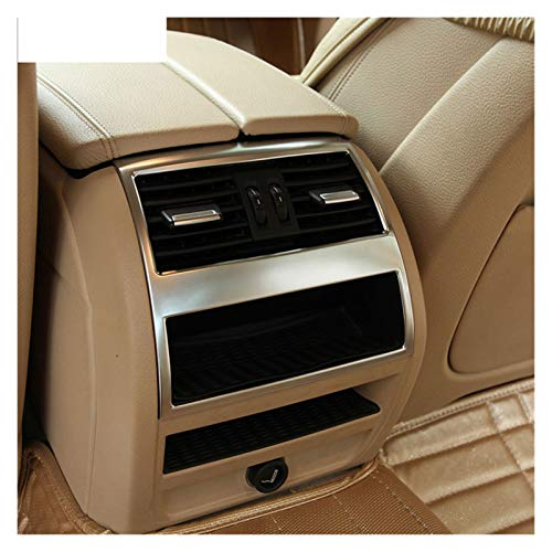lifmagic ABS Chrome Interior Accesorio Interior Aire Aire Acondicionado DE AIRETOR DE AIREJO Ajuste para BMW 5 Series F10 520 525 2011-2016 (Color Name : Silver)