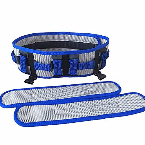 WANGXNCase Cinturón de Transferencia con Asas Perneras - Cinturón de Marcha - para Pacientes, Ancianos, Niños, Fisioterapia - Rehabilitación para Caminar de Pie