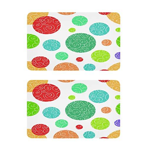 QMIN - Imanes de nevera coloridos con diseño de círculos de garabatos de lunares, 2 unidades, divertidos imanes decorativos para nevera, para cocina, lavavajillas, puerta de metal y oficina