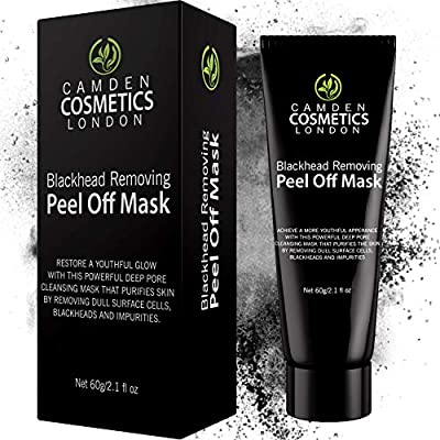*SPECIAL OFFER* Premium Charcoal Face Mask - Blackhead Remover Mask 60 g - Black Blackhead Mask - Peel Off Face Masks By Camden Cosmetics™ - Natural Activated Charcoal Peel Off Black Mask - Deep Skin Blackhead Cleanser Purifying Mask To Remove Dull Cells,