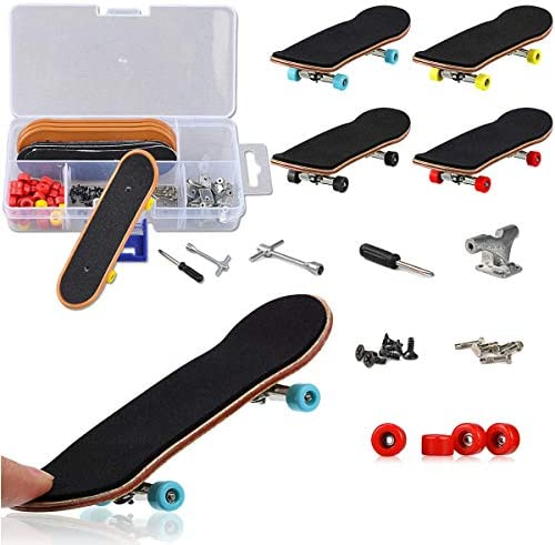 YICHUMY DIY Fingerboard Kit with Box 5 Packs Mini Fingerboards Professional Mini Skateboard product image