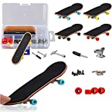 YICHUMY DIY Fingerboard Kit with Box 5 Packs Mini Fingerboards Professional Mini Skateboard Finger Skateboard with Mini Wrench/Screwsdriver/Brackets/Screws/Fingerboard Wheels Wheels