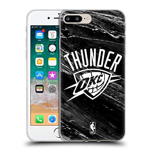 Head Case Designs Oficial NBA Mármol Blanco y Negro Oklahoma City Thunder Carcasa de Gel de Silicona Compatible con Apple iPhone 7 Plus/iPhone 8 Plus