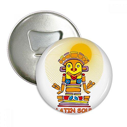 Oude Egypte Latijnse ziel standbeeld patroon ronde fles opener koelkast magneet pinnen badge knop gift 3 stks