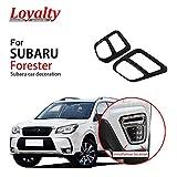 Lealtad For Subaru Forester 2019 Frente Foglight Niebla Lámpara De Luz Ajuste De La Cubierta ABS Decoración De Fibra De Carbono del Coche Que Labra Los Accesorios
