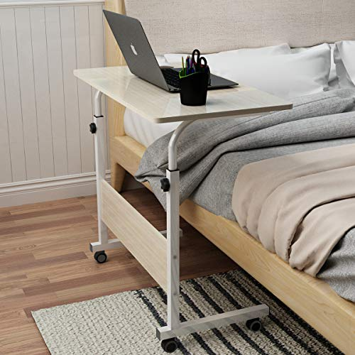 Bed Terrace Garden etc,A,80cm LUOMP Foldable and Portable Laptop Table Computer Desk Laptop Bed Table for Sofa Balcony
